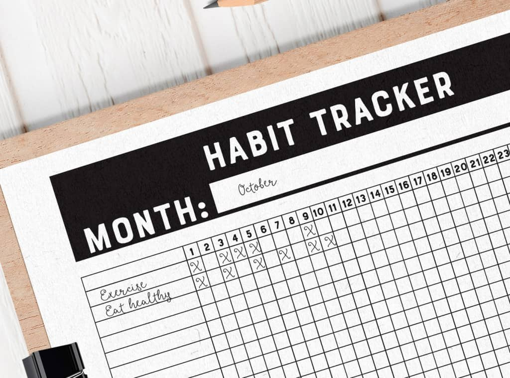 Use a Printable Habit Tracker to Meet Your Goals Faster ...