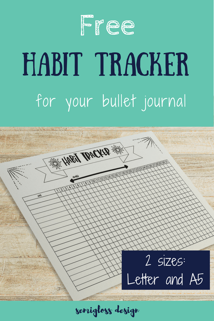 Remarkable image intended for bullet journal habit tracker printable