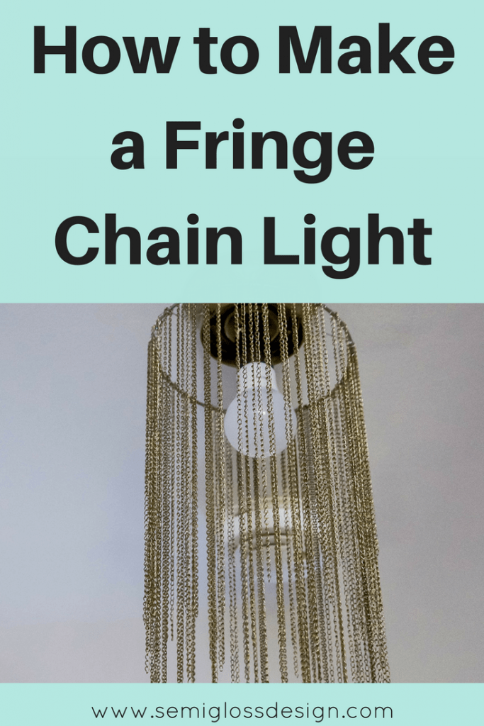 DIY pendant light   how to make a light pendant   fringe light pendant   update boob lights   simple DIY light fixture   DIY flushmount fixture   boho light fixture
