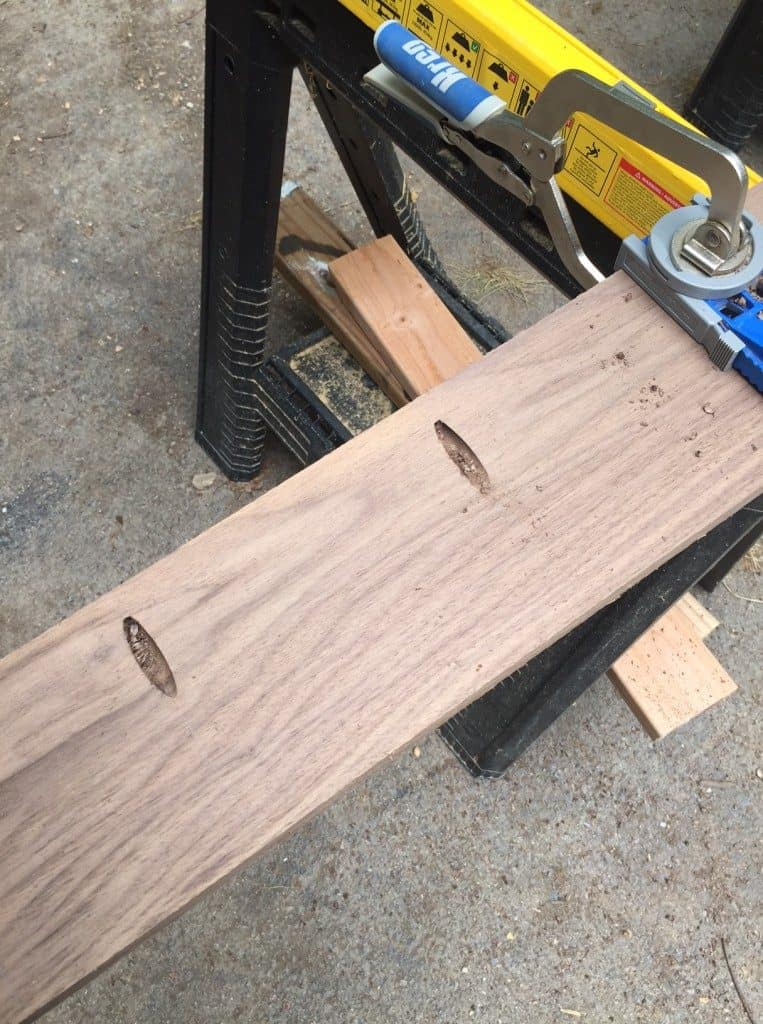 Drill pocket holes for each plank