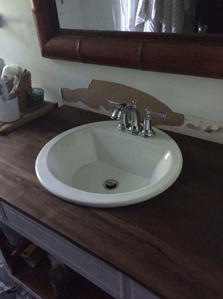 Diy Wood Countertops For A Bathroom Semigloss Design