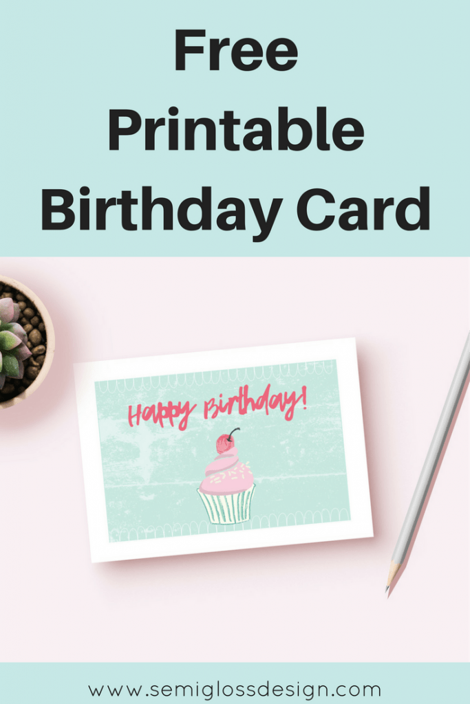 free printable birthday card