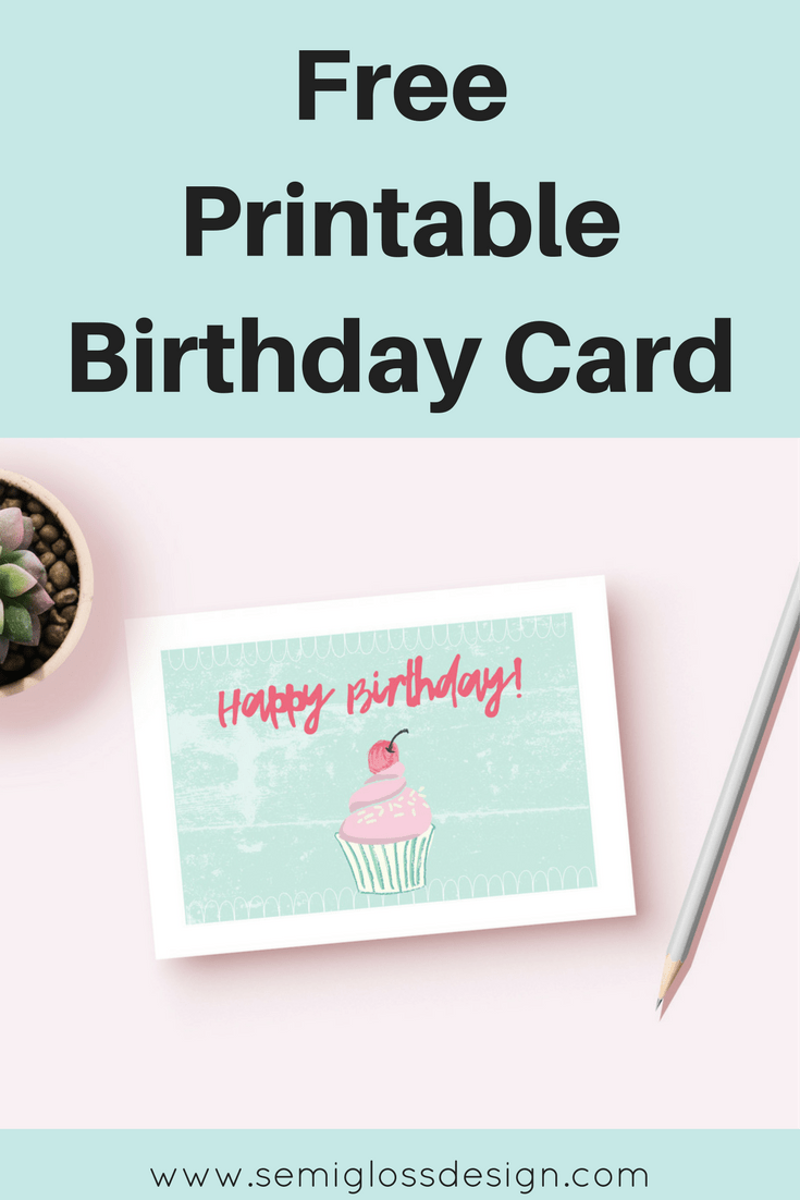 Printable Card | Printable Birthday Card | Free Printables | Birthday Card  For Her | Cute  Freeprintable Birthday Cards