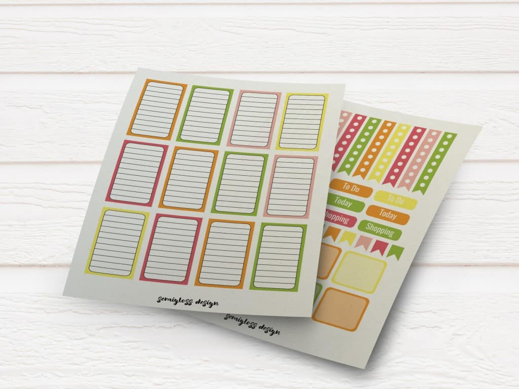 image relating to Free Printable Functional Planner Stickers identified as Totally free Sticker Friday: Realistic Citrus Stickers - Semigloss