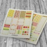 Free Citrus Inspired Planner Stickers