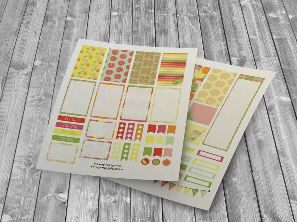 Free planner stickers | Big Happy Planner | Classic Happy Planner | Erin Condren | A5 stickers | A5 | free printables | planner stickers | planners