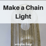 How to Make a DIY Pendant Light with Jewelry Chain