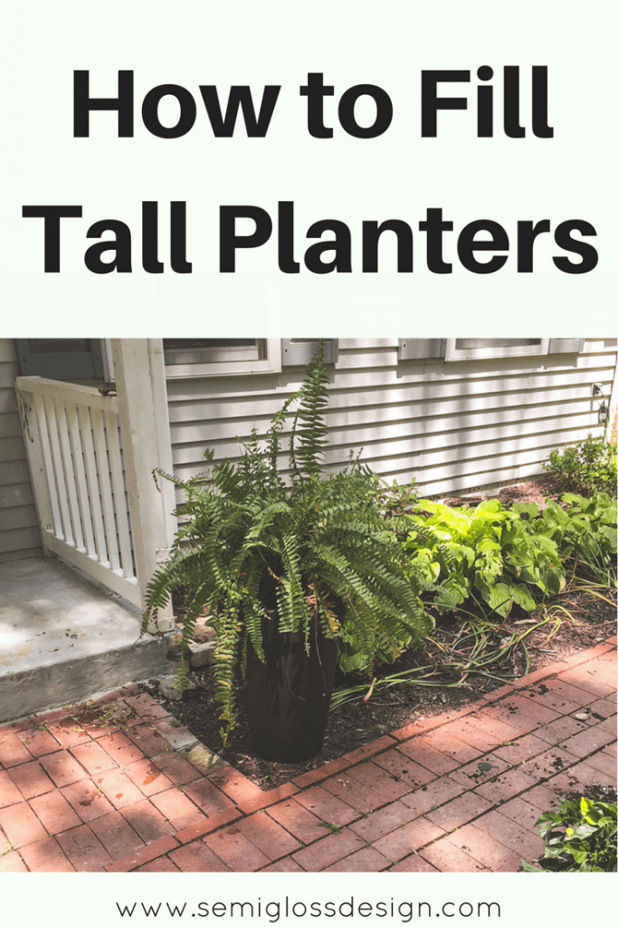 Fill tall planters cheaply