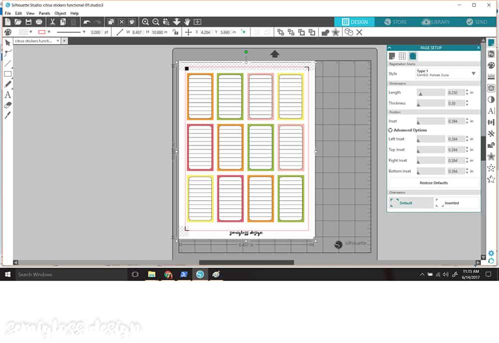 How To Cut Stickers With A Silhouette Semigloss Design