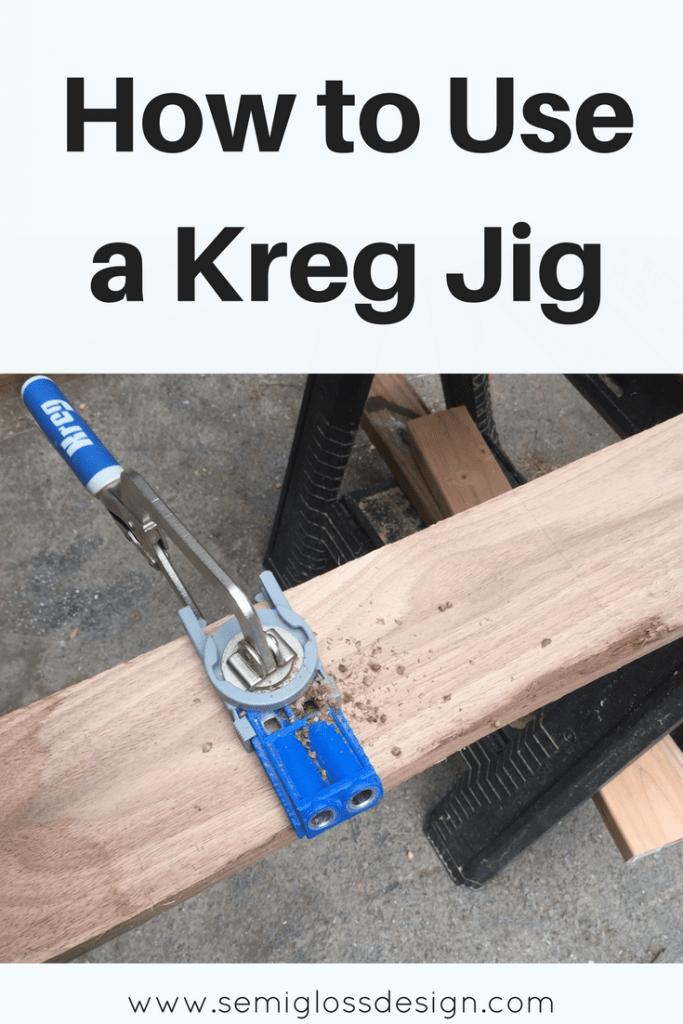 tutorial for using a kreg jig
