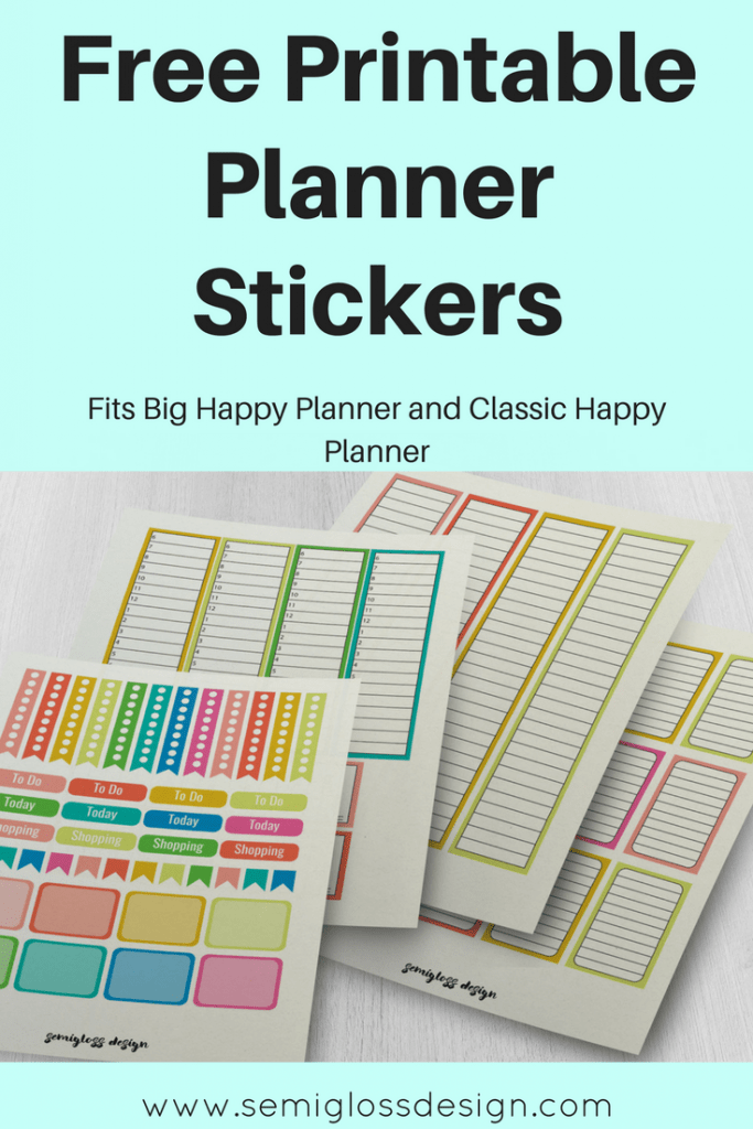 planner stickers | Happy planner | Planner printables | printable stickers | Erin Condren | colorful planner