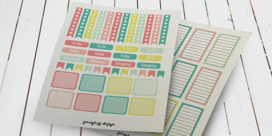 Free planner stickers | Big Happy Planner | Classic Happy Planner | Erin Condren | A5 stickers | A5 | free printables | planner stickers | planners