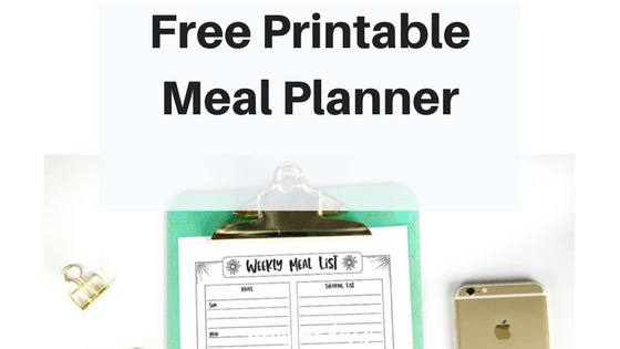 Need a meal planner? Download this printable meal planner/ grocery list combo today! Three different sizes to fit your planner or bullet journal!