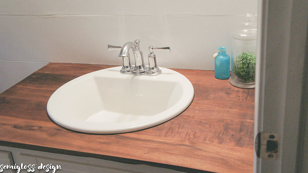 Build Wood Countertops Bathroom Upgrade Diy Budget