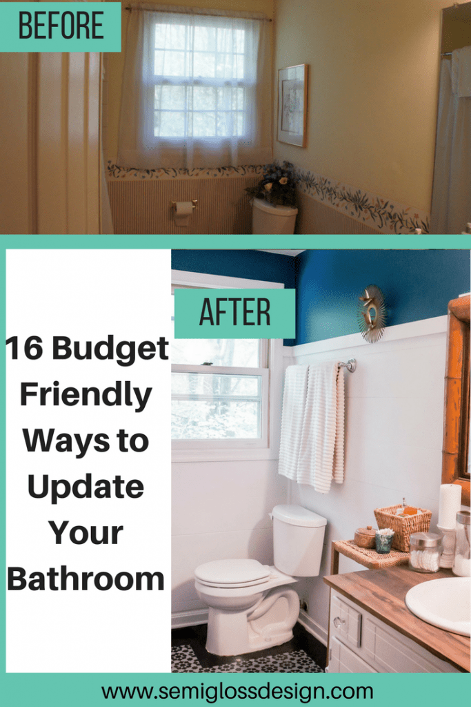 16 Ways To Update Your Bathroom On A Budget Semigloss Design