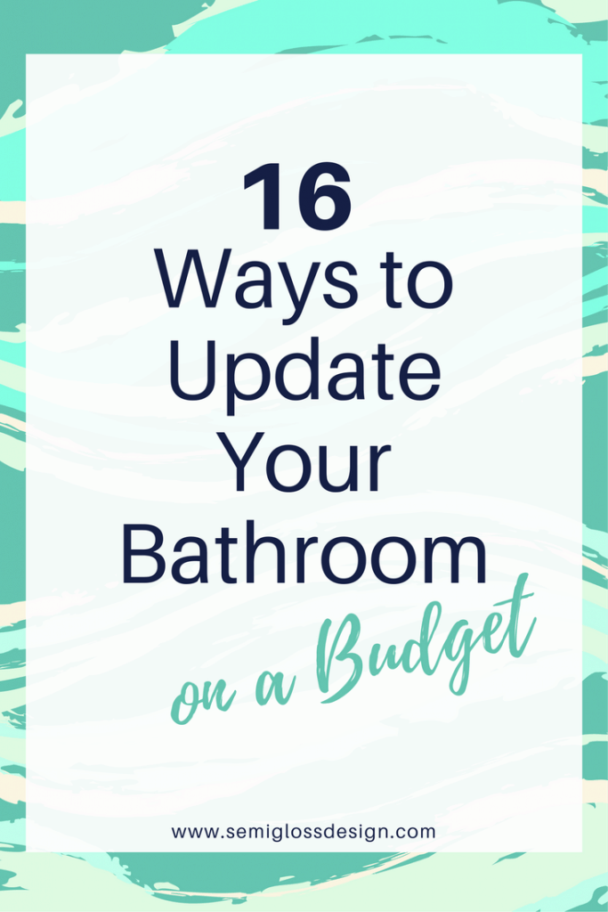 bathroom on a budget | update bathroom | cheap bathroom | DIY bathroom | farmhouse bathroom | bathroom makeover | simple bathroom makeover
