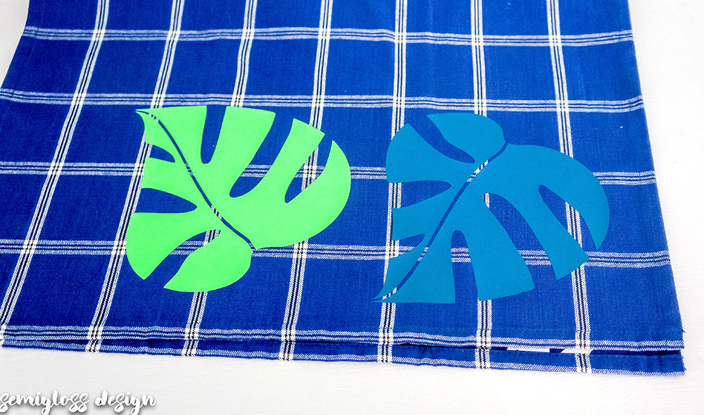 Make Your Own Decorative Tea Towels With Vinyl Semigloss