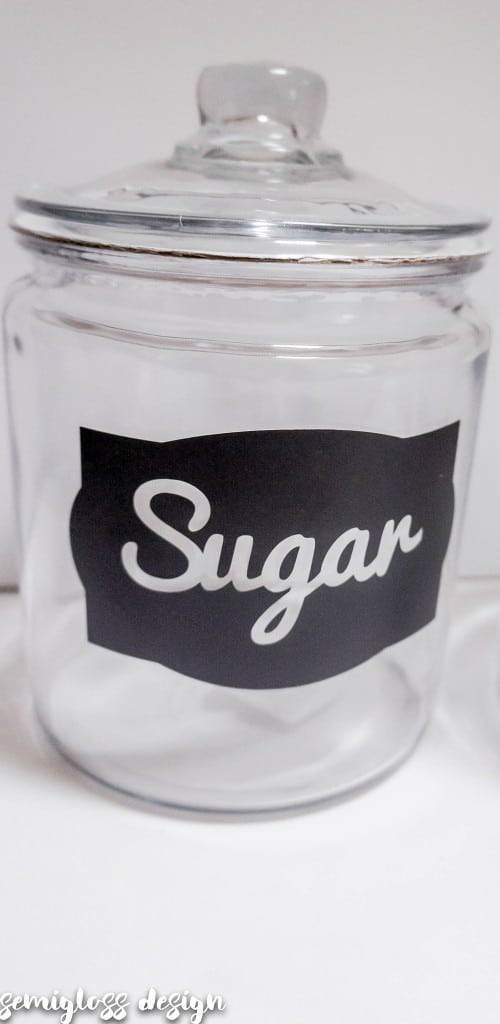 Diy Kitchen Canister Labels With A Silhouette With Free