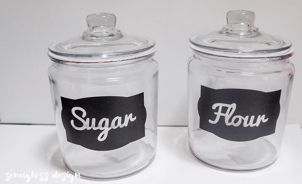 Easy to make kitchen canister labels