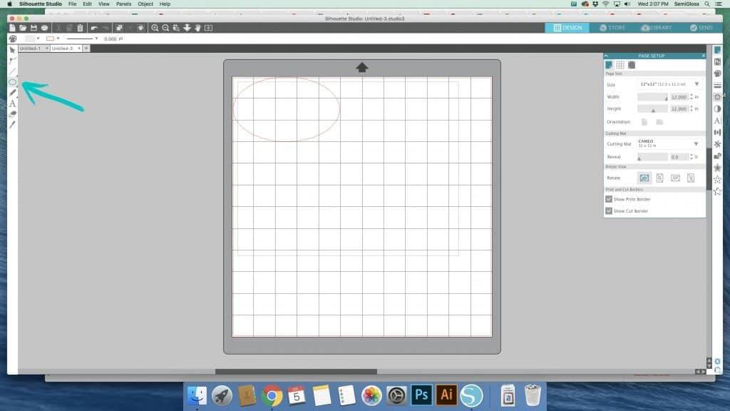 Draw an oval