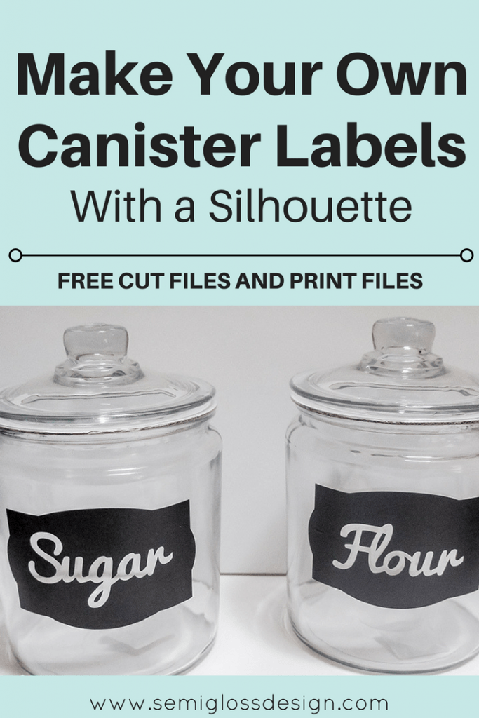 Diy Kitchen Canister Labels With A Silhouette With Free Cut Files