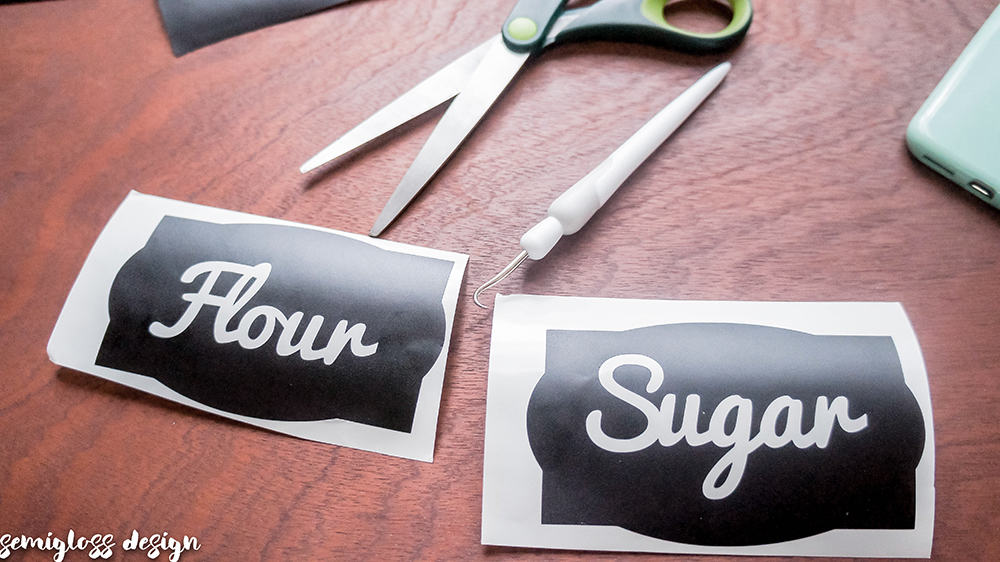 Diy Canister Labels With A Silhouette With Free Cut Files