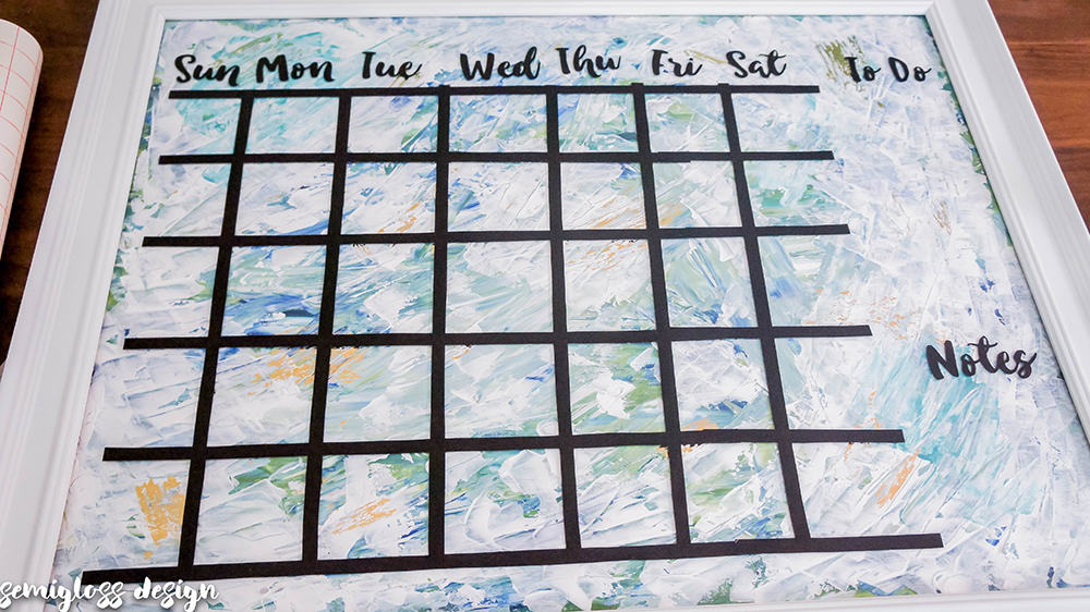 Whiteboard Calendar Diy : Diy dry erase calendar from bad thrift store art