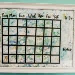 DIY Dry Erase Calendar from Bad Thrift Store Art
