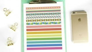 Free Printable Washi Tape for Planners