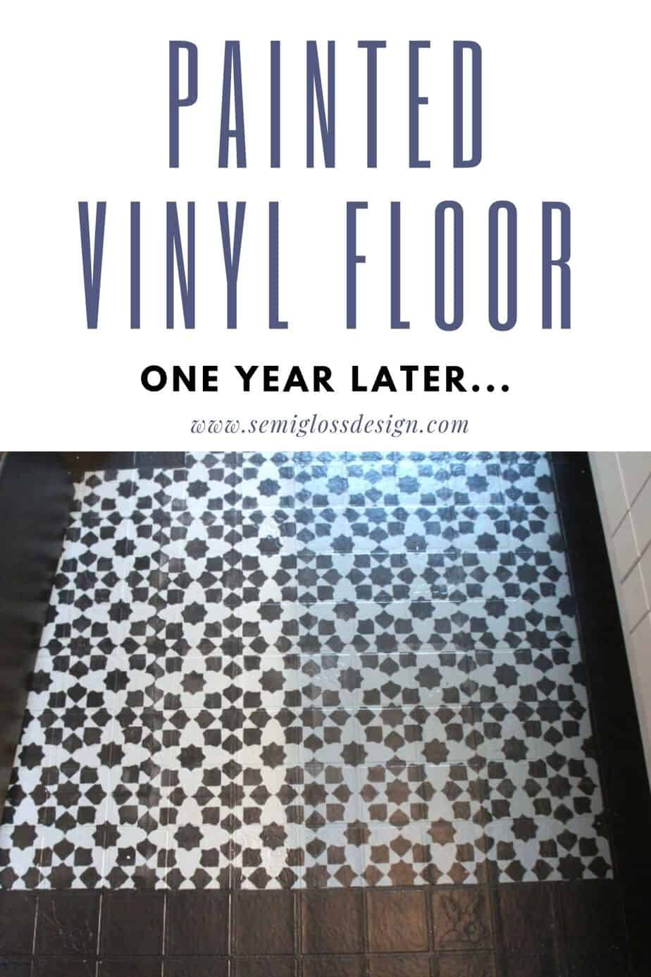 painted vinyl floor 1 year later