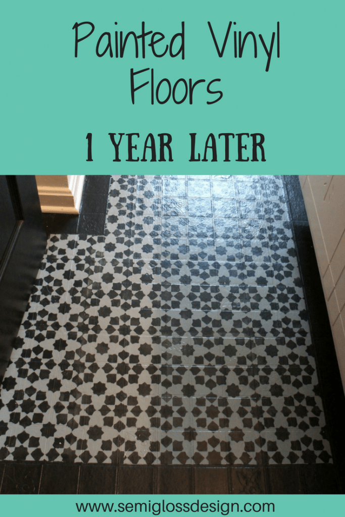 stenciled vinyl flooring update