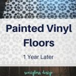Painted Vinyl Floor – 1 Year Later!