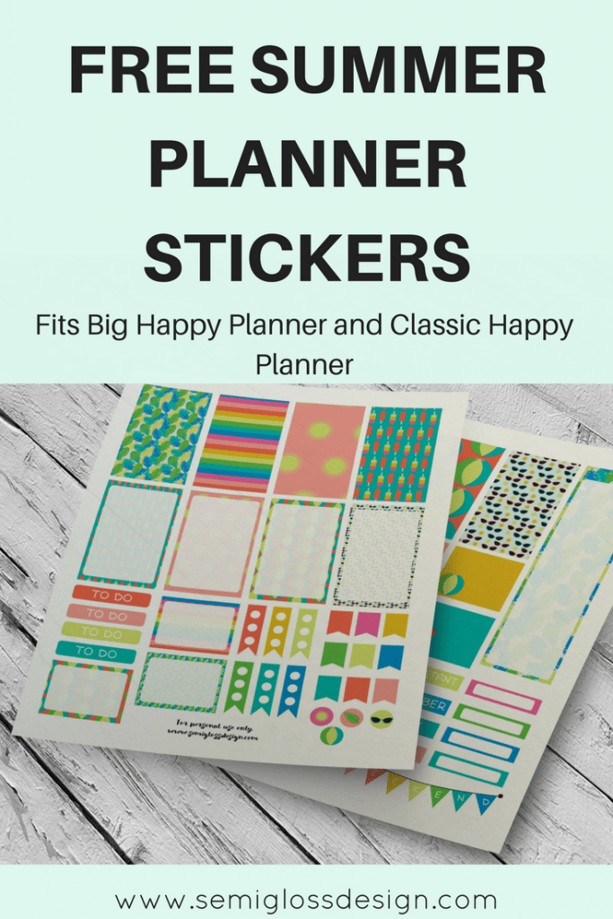 free printables | free planner stickers | printable planner stickers | big happy planner | classic happy planner | summer stickers