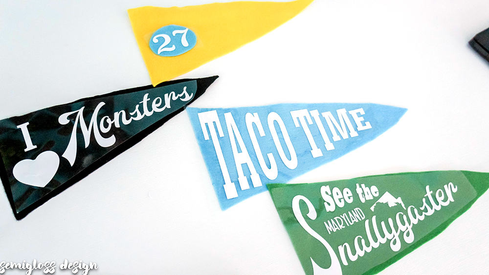 lay out your pennant designs on the felt