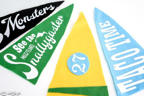 vintage style pennant | heat transfer vinyl project | silhouette project | vintage crafts | DIY pennant | room decor | kids room decor | vintage pennant | banner | travel decor | wall hangings | bunting | DIY flag | signs | retro decor