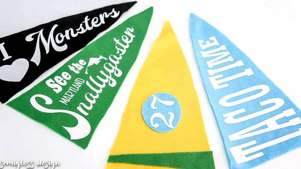 Make Your Own Vintage Style Pennant Flag!