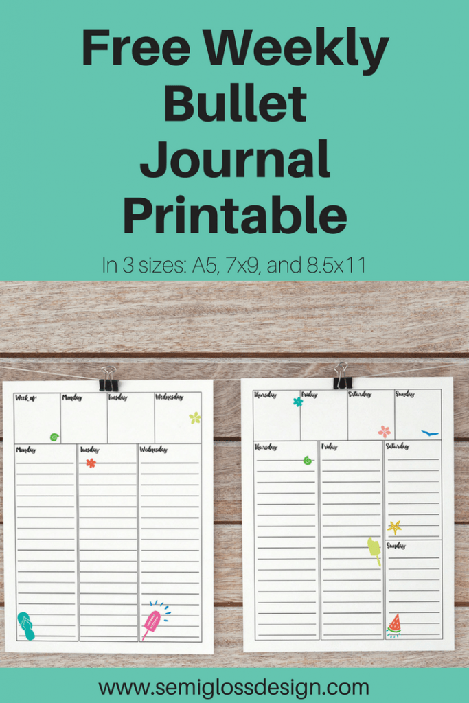 weekly bullet journal printable | bullet journal printable | planner printable | bujo | weekly layout | free printables | organization | simple planner #bujo #bulletjournal #printableplanner #bujoweekly