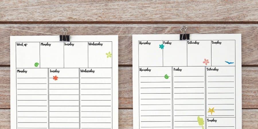 weekly bullet journal printable | bullet journal printable | planner printable | bujo | weekly layout | free printables | organization | simple planner