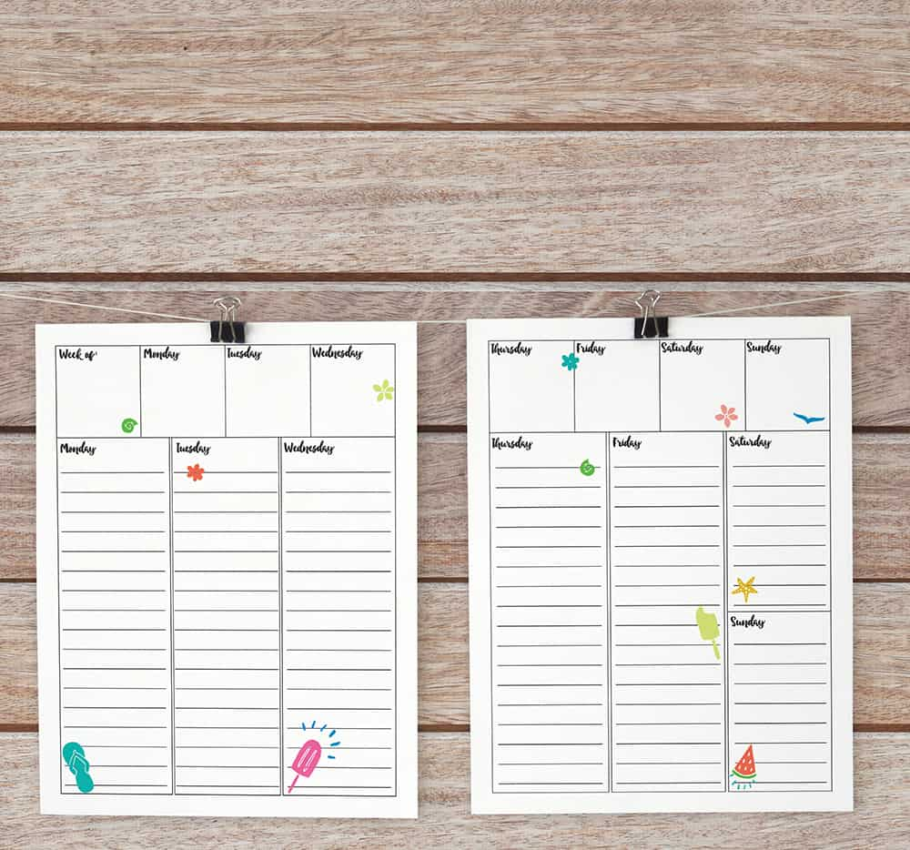 image relating to Free Weekly Planner Printables known as Obtain a Absolutely free Weekly Bullet Magazine Printable - Semigloss