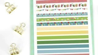 Free Printable Washi Tape for August