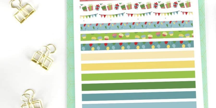 free printable | printable washi | washi tape | printables | planner stickers | happy planner | printable planner stickers