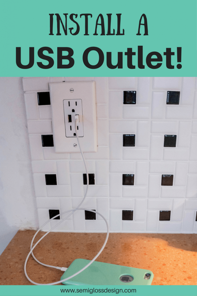 Install a USB outlet