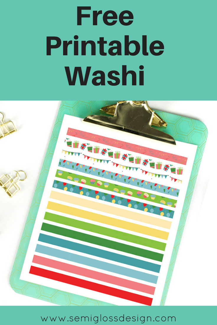 Printable Washi Planner Stickers 28 Images