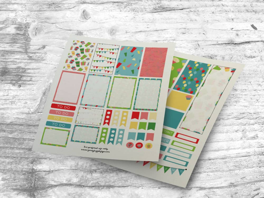 printable planner stickers | free planner stickers | big happy planner | classic happy planner | printable stickers | planner supplies | free printables