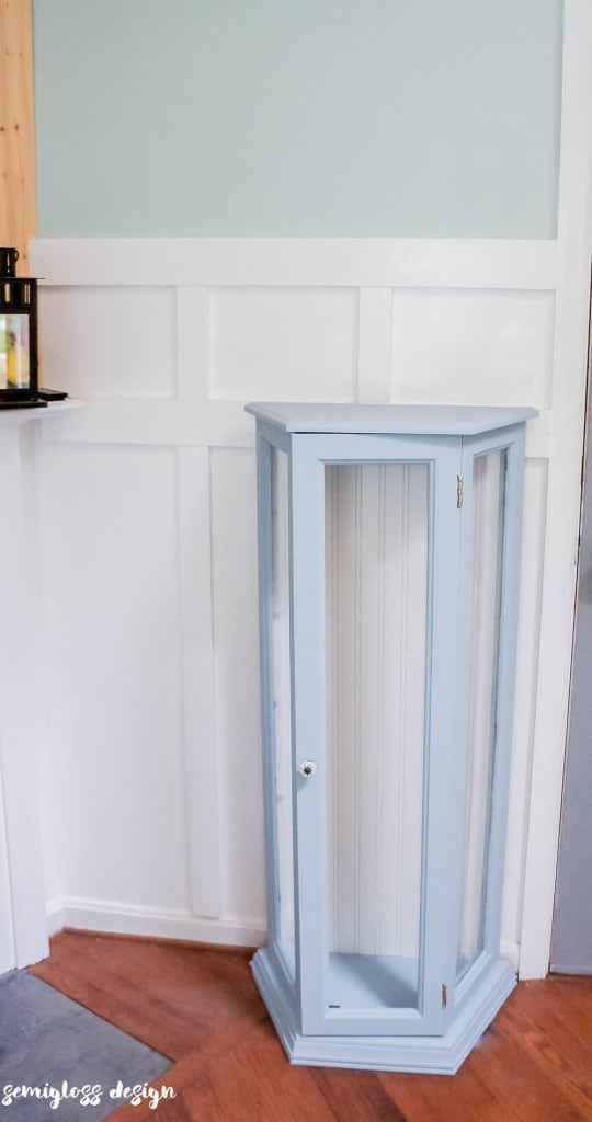 how to paint a curio cabinet