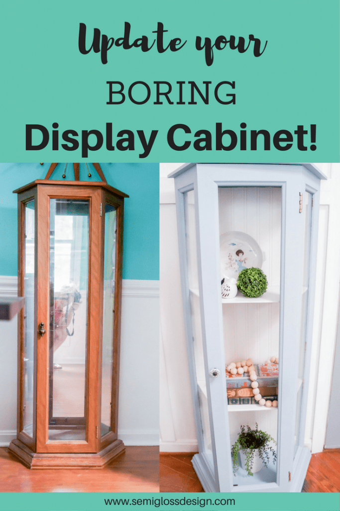 display cabinet | curio cabinet | china cabinet | chalk paint furniture | chalk paint | painted furniture | chalk paint projects | valspar chalk paint