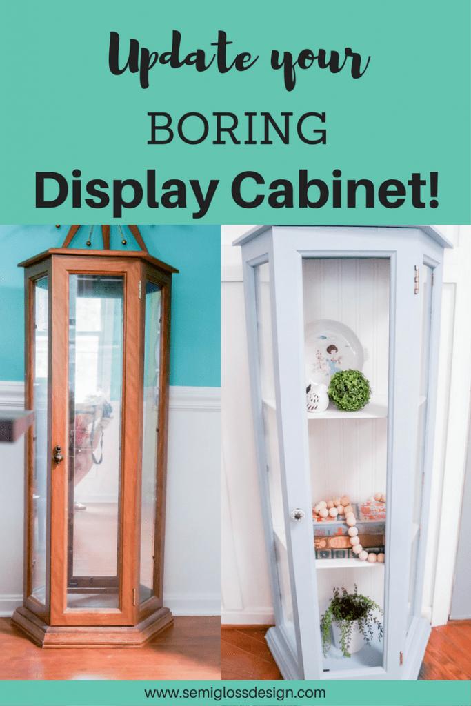 Update a boring curio cabinet