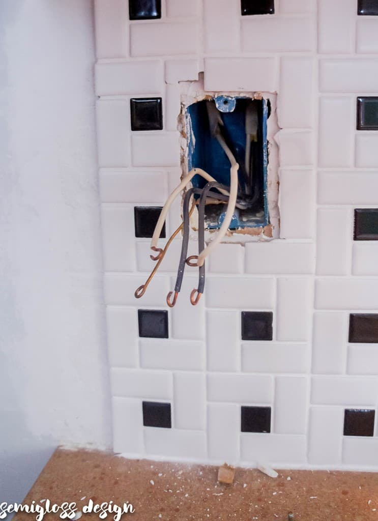 wires in outlet