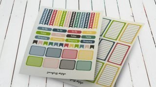 September Printable Planner Stickers