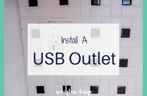 install a usb outlet | usb outlet DIY | USB plugs | charging station | usb outlet kitchen
